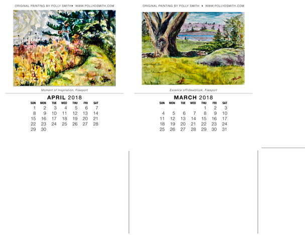2018 Calendar- March_April_with photos